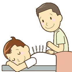 鍼灸を受ける人